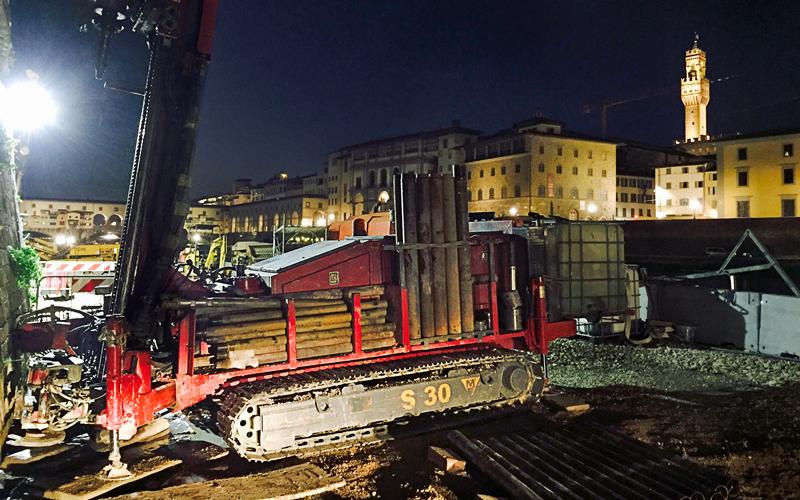 Indagini geologiche nel centro storico di Firenze