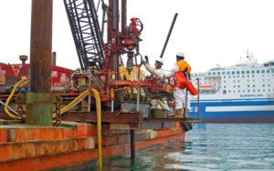 Indagini geologiche su pontone - Autorità portuale Ancona