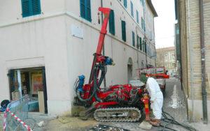 Indagini geologiche - Sondaggio stratigrafico a Senigallia
