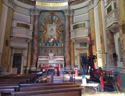 Sondaggi geologici e indagini sismiche per messa in sicurezza di una chiesa nelle marche